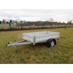 Přívěsný vozík do 750 kg s hliníkovými bočnicemi